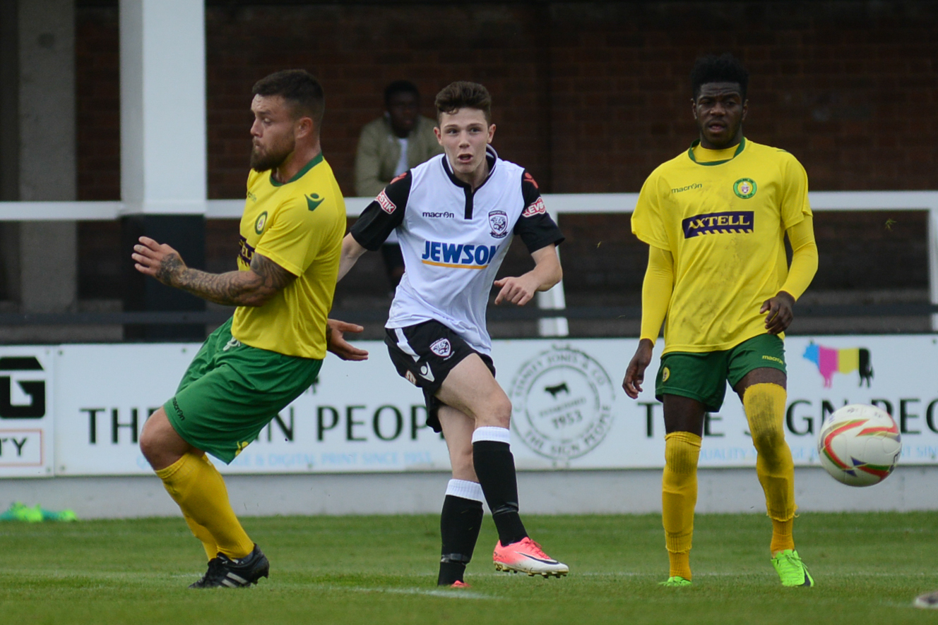 George Hayes came on for Hereford in their FA Cup match against Godalming Town. Photo: James Maggs