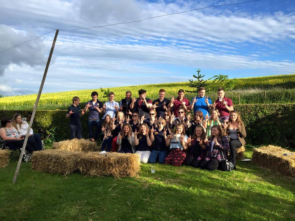 Members of the Lugg Valley Young Farmers Club at their summer barbecue social evening