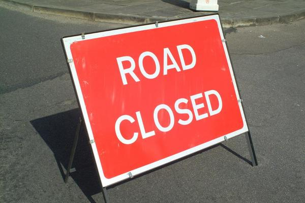 The A4103 at Fromes Hill is closed due to a serious collision