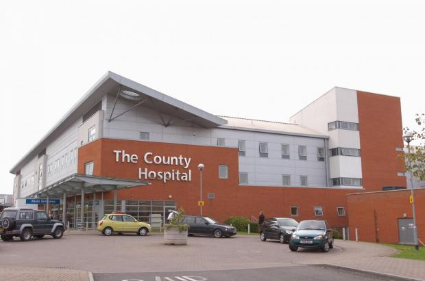 The temporary drop-off point is in place at Hereford County Hospital