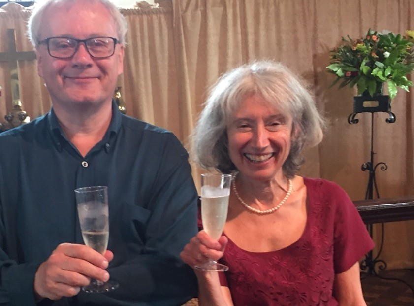 Jonathan Morgan and Jenny Thomas swap one kind of flute for another