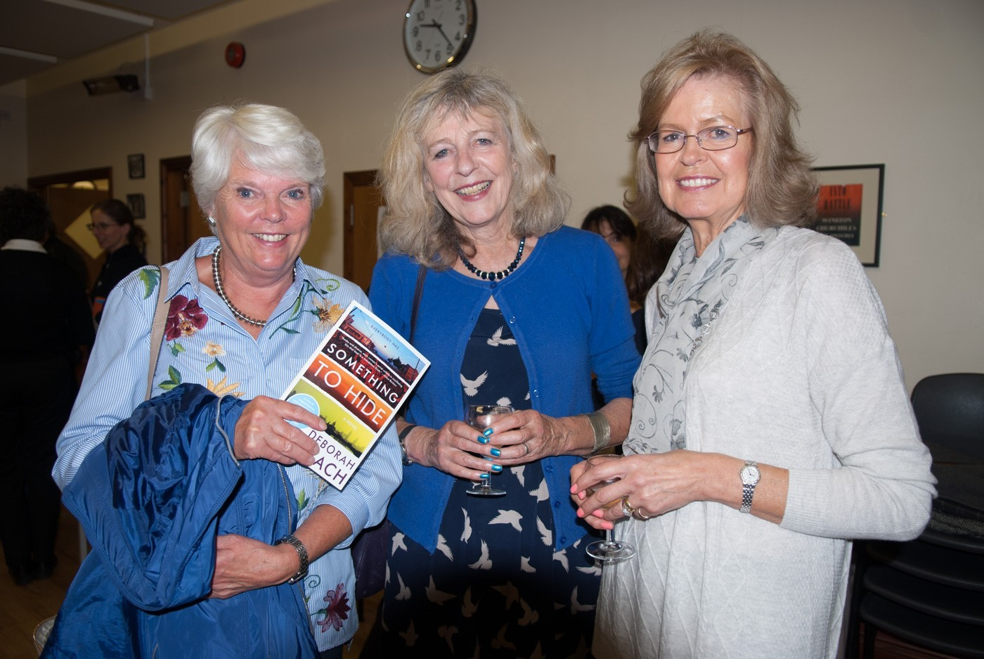 Jan Baker with Deborah Moggach and Sandra Jones after the talk. Photo: Jane Moyle