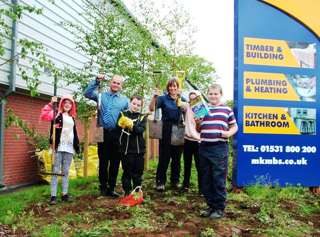 The Newent in Bloom team get busy