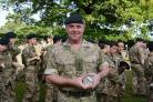 Major Craig Derrigan, Contingent Commander of Lucton School's Combined Cadet Force, who is also the school's primary first aid trainer