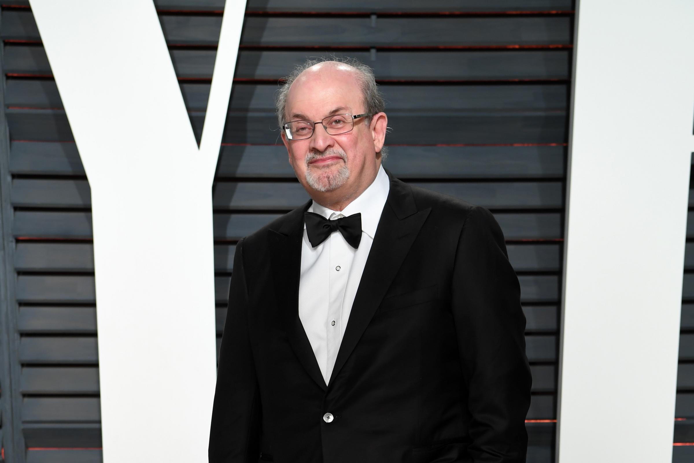 Salman Rushdie arriving at the Vanity Fair Oscar Party in Beverly Hills, Los Angeles (PA)