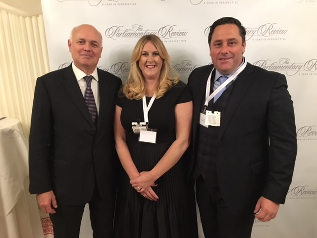Iain Duncan Smith with Amanda and Andrew Joseph