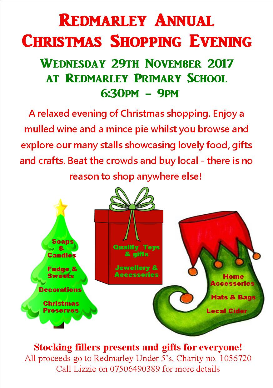 Redmarley Christmas shopping evening