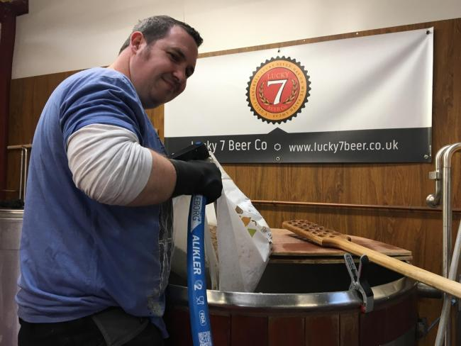 Luke Manifold who has created his own brewery named Lucky 7 Beer Co