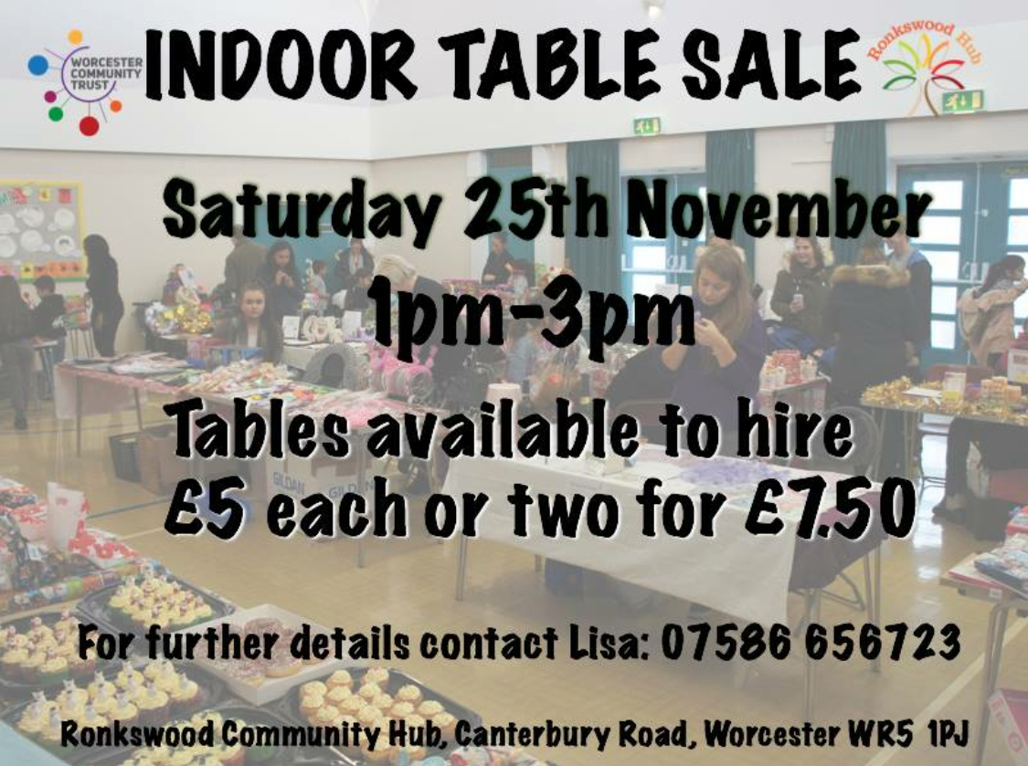 Ronkswood Community Hub Indoor Sale