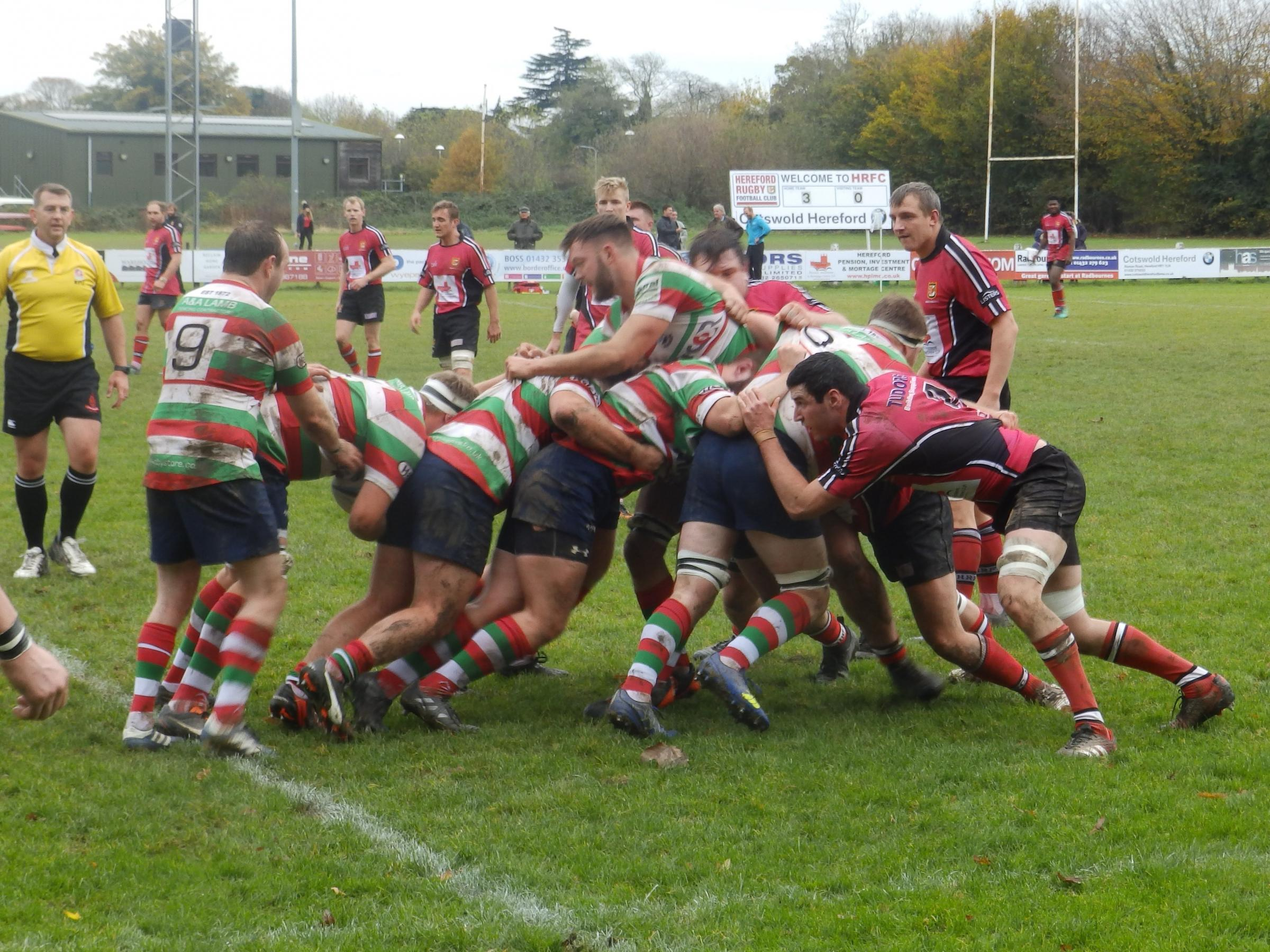 Action from the Hereford v Lutterworth match