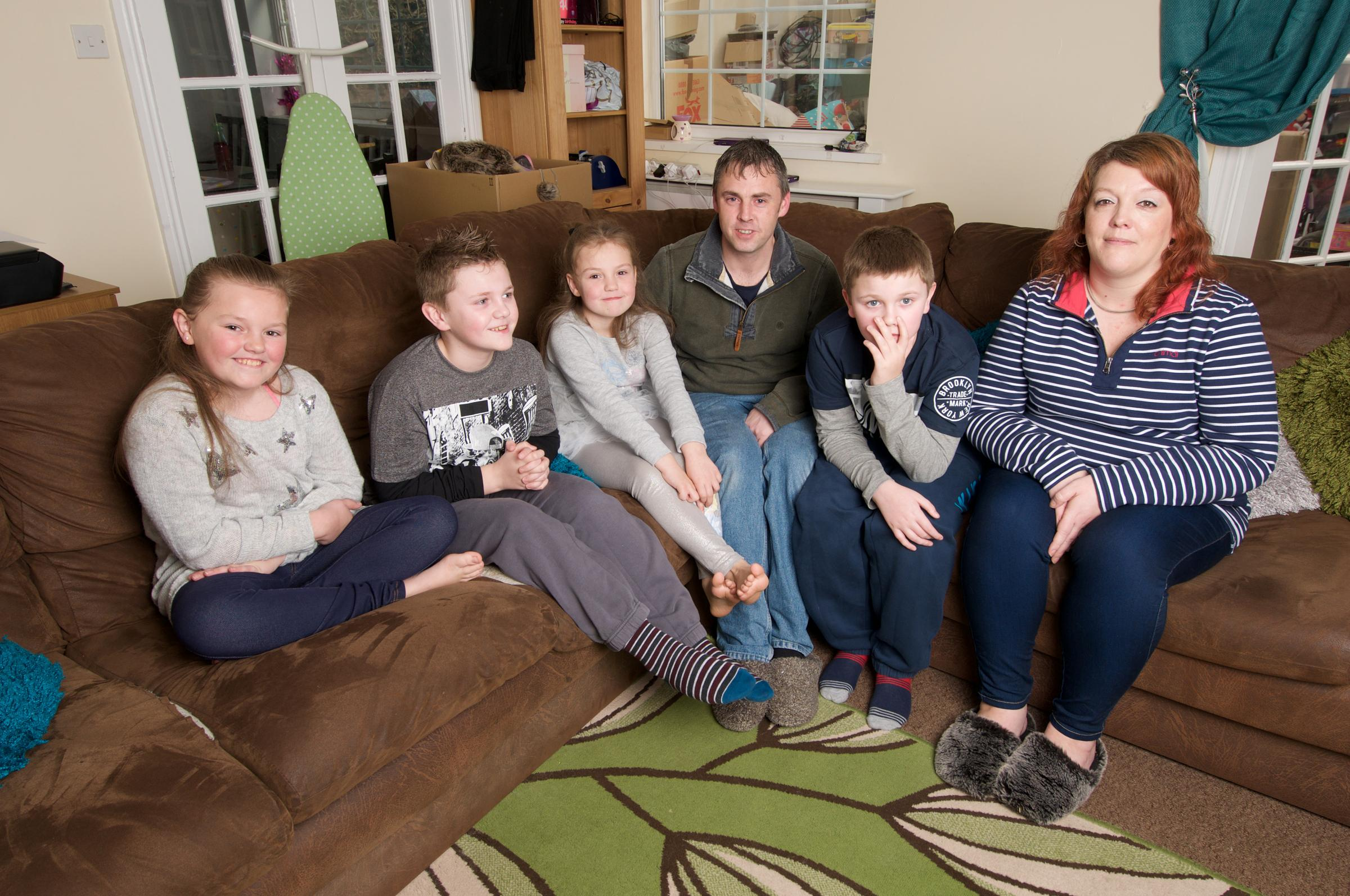 The Penn family whose tale has been shortlisted for a national award. Picture: Ben Rector