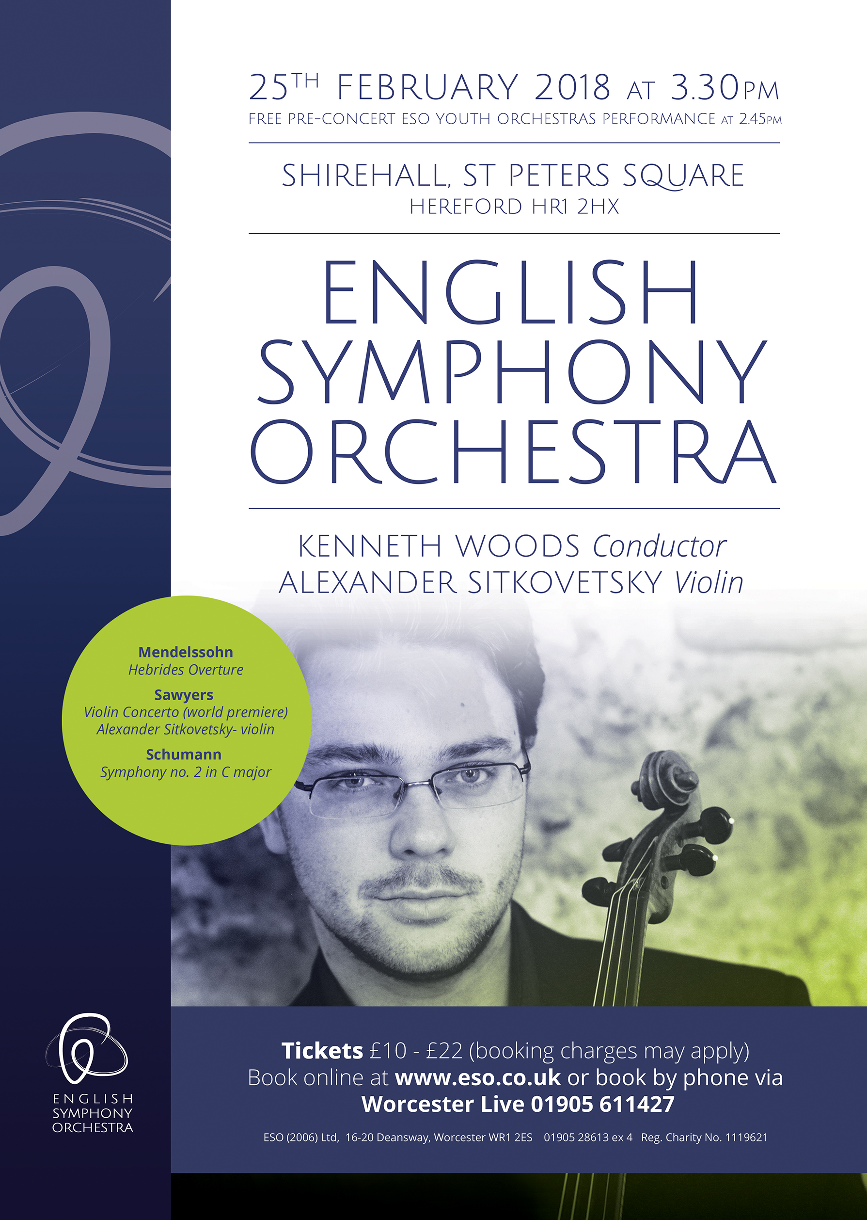 English Symphony Orchestra matinee - Mendelssohn, Schumann and a British premiere