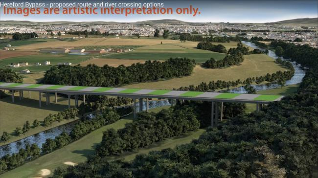 Decision to pause all work on Hereford bypass and southern link road