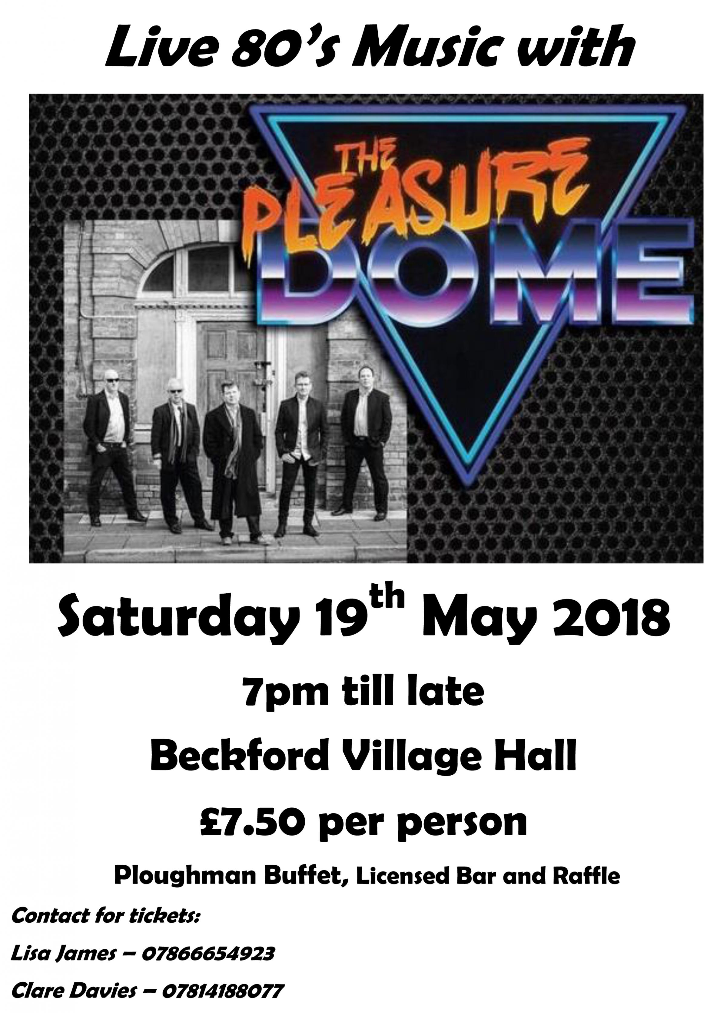 Live 80s Music with the Pleasuredome