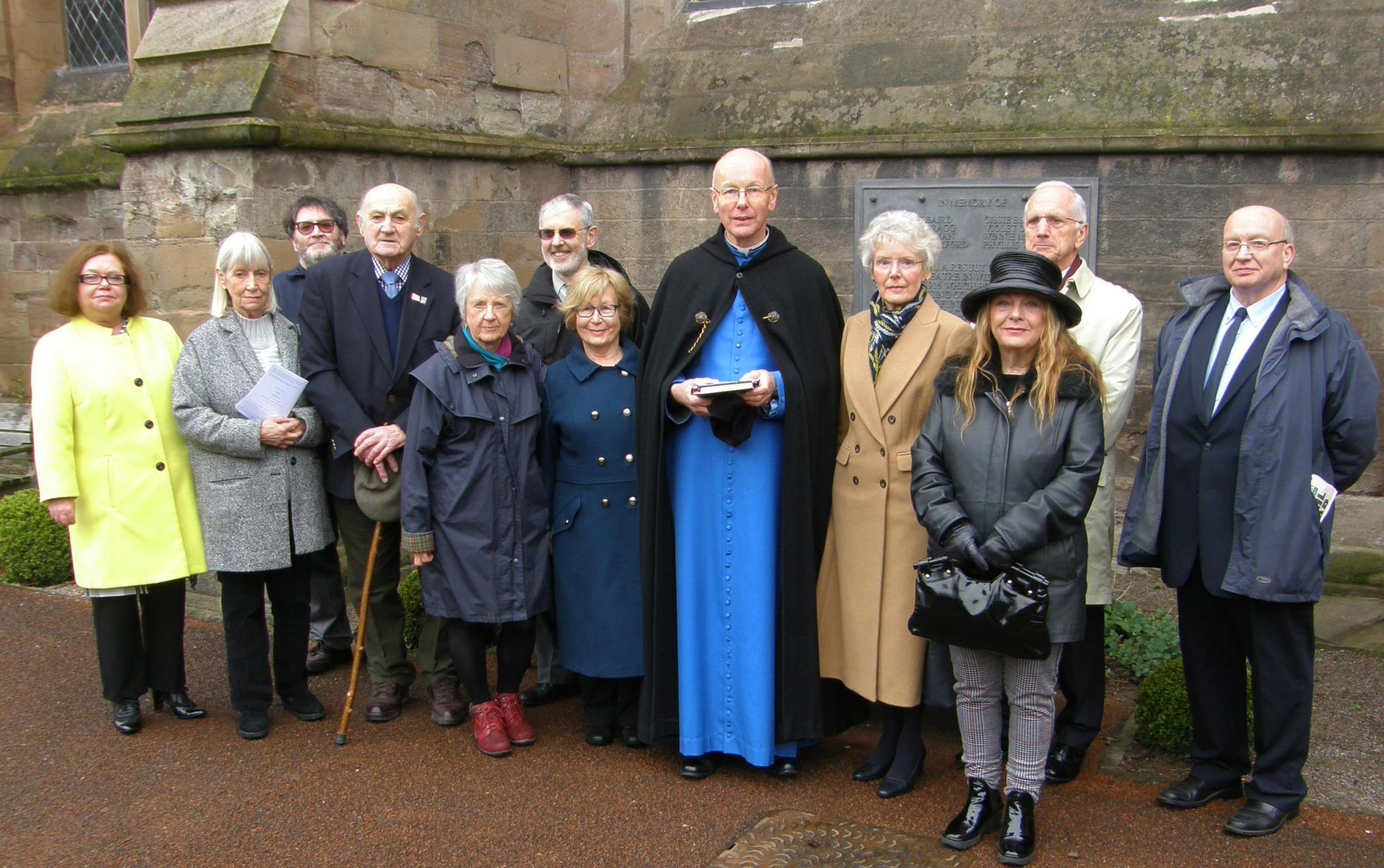 Family members of the children with the Dean of Hereford. Photo: Hereford Cathedral