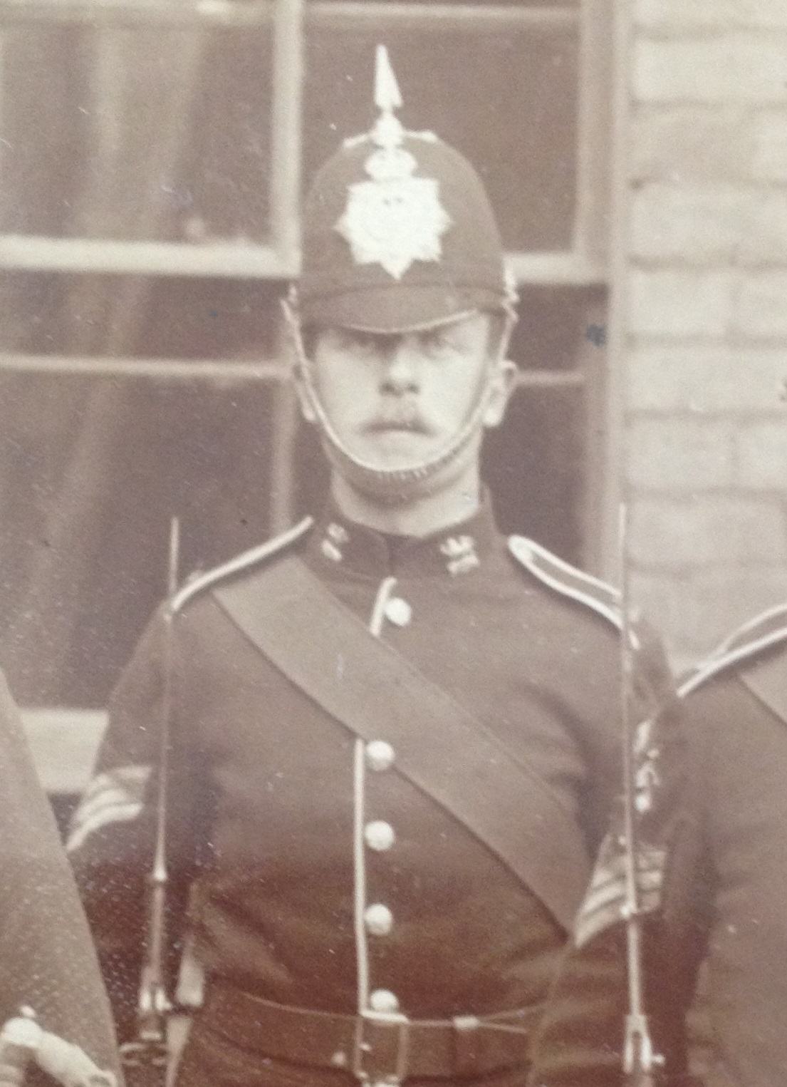 Sgt Chipp in the 1909 Colour party.