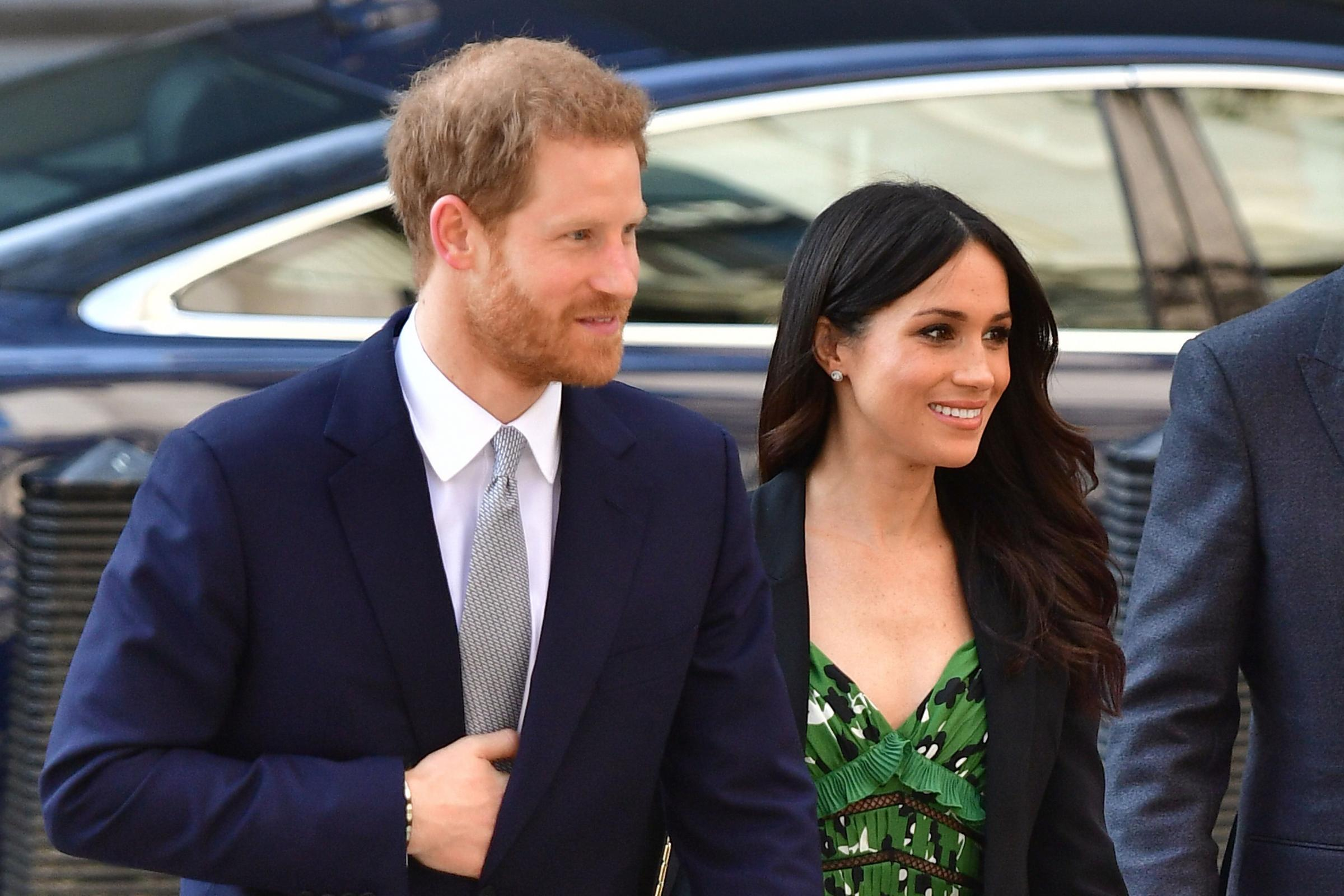 Prince Harry and Meghan Markle. Picture: Dominic Lipinski/PA