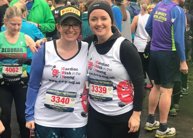 Running in their dad's memory: Amy and Lucy Pegler