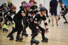 Team GB juniors including eight from Hereford training in Roller Derby ahead of travelling to the World Cup in Philadelphia. Hereford Academy. Hereford Poison Berries skaters Cordelia Abel & brother Lawrence Abel who are both part of the GB squad.