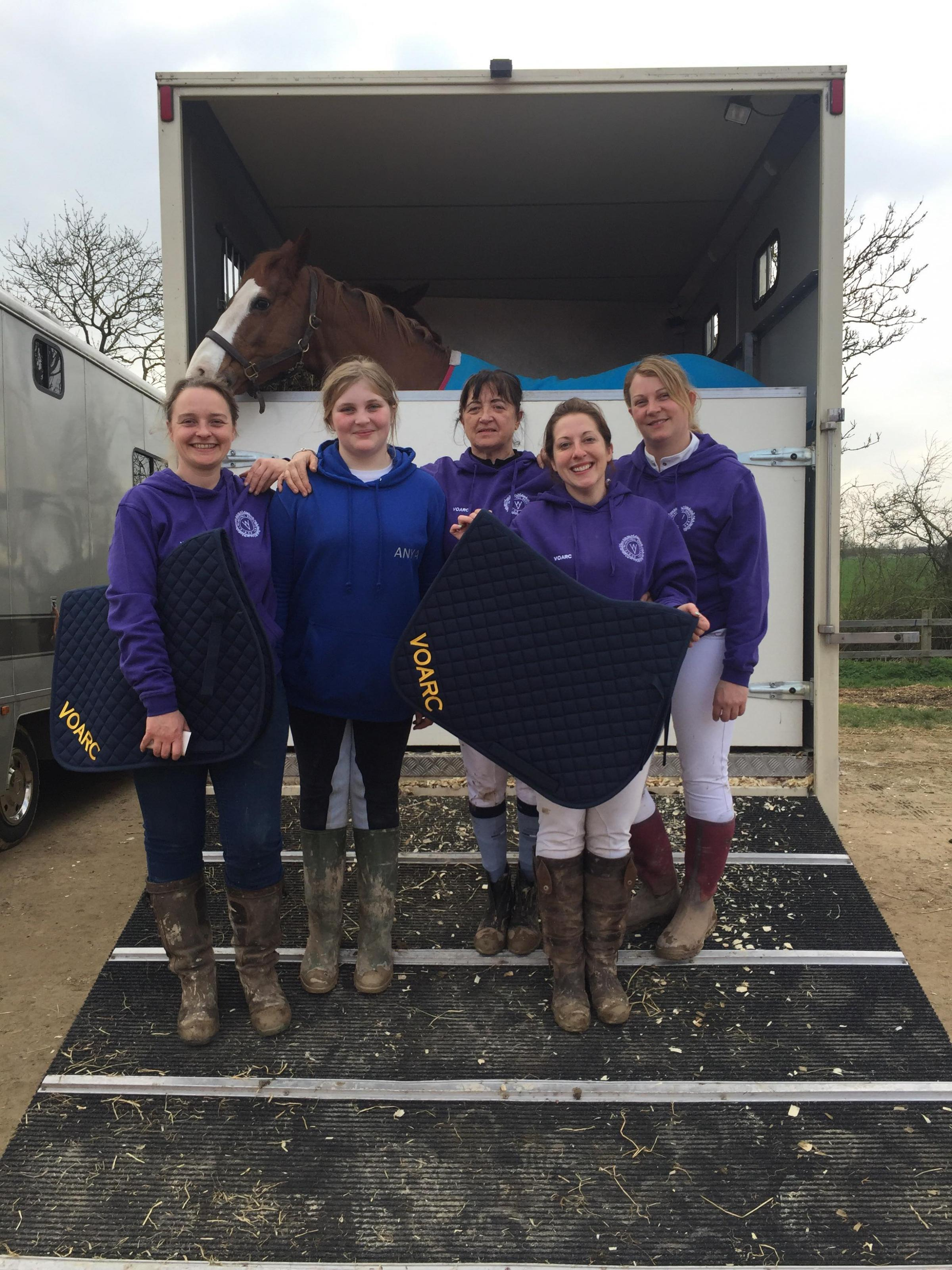 The Vale of Arrow riding club riders who have qualified for the KBIS Winter Showjumping Championships