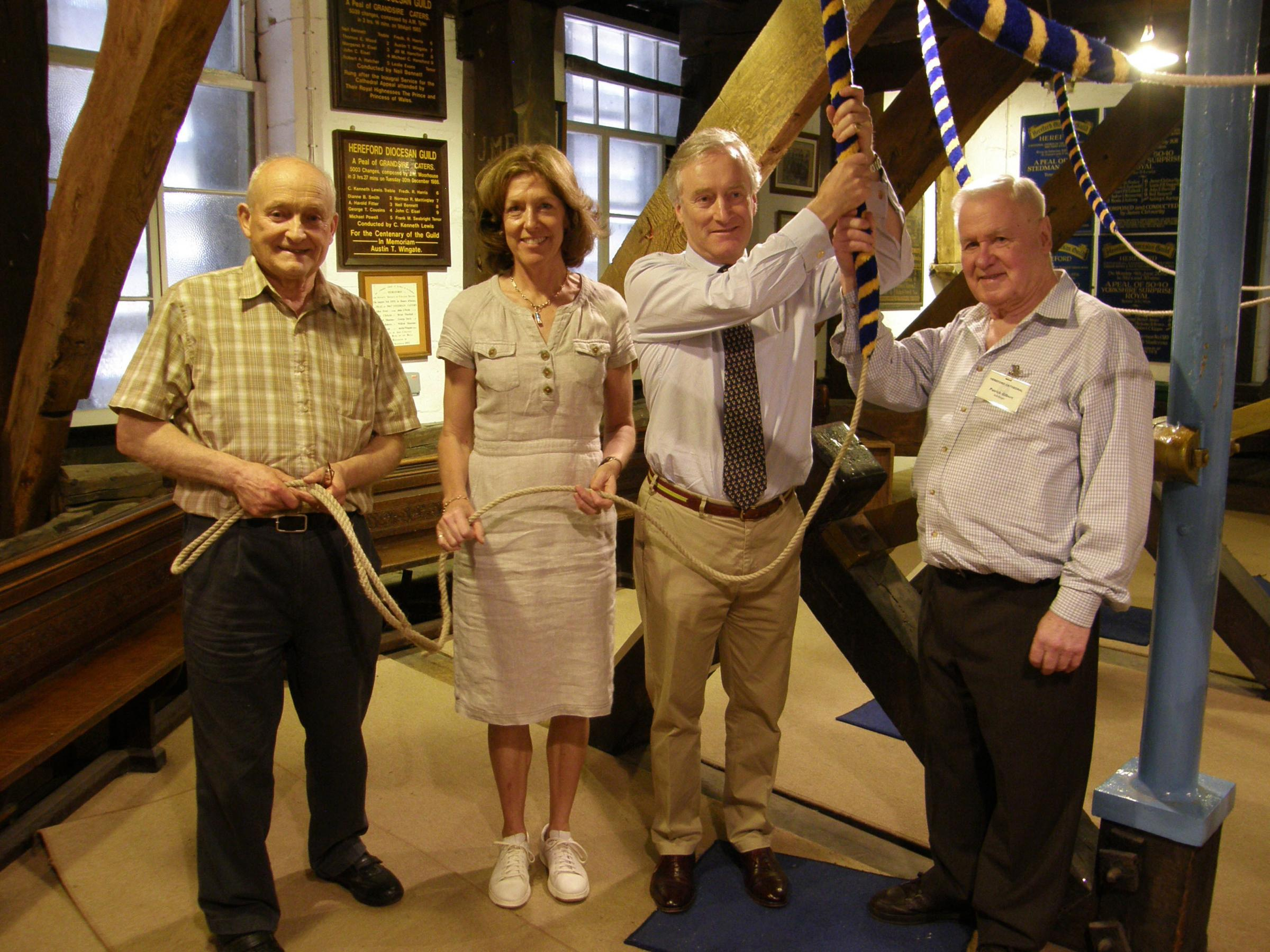 Lord and Lady Ashton try their hand at bellringing