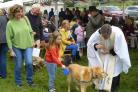 The blessing of pets and animals during last year's event
