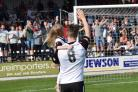 Rob Purdie bids an emotional farewell to Hereford FC. Picture: Will Cheshire