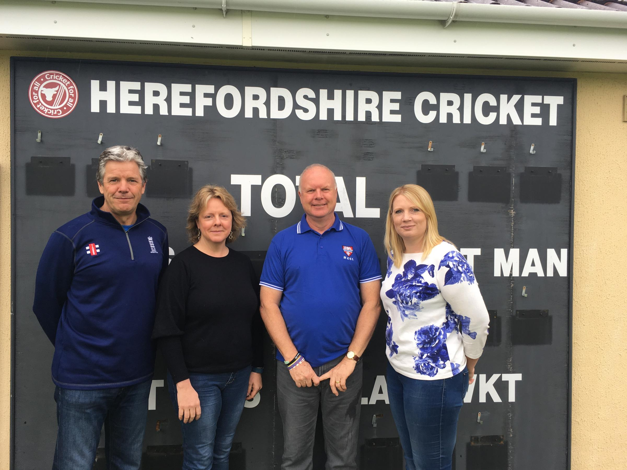 The members of staff at Herefordshire Cricket (l-r)