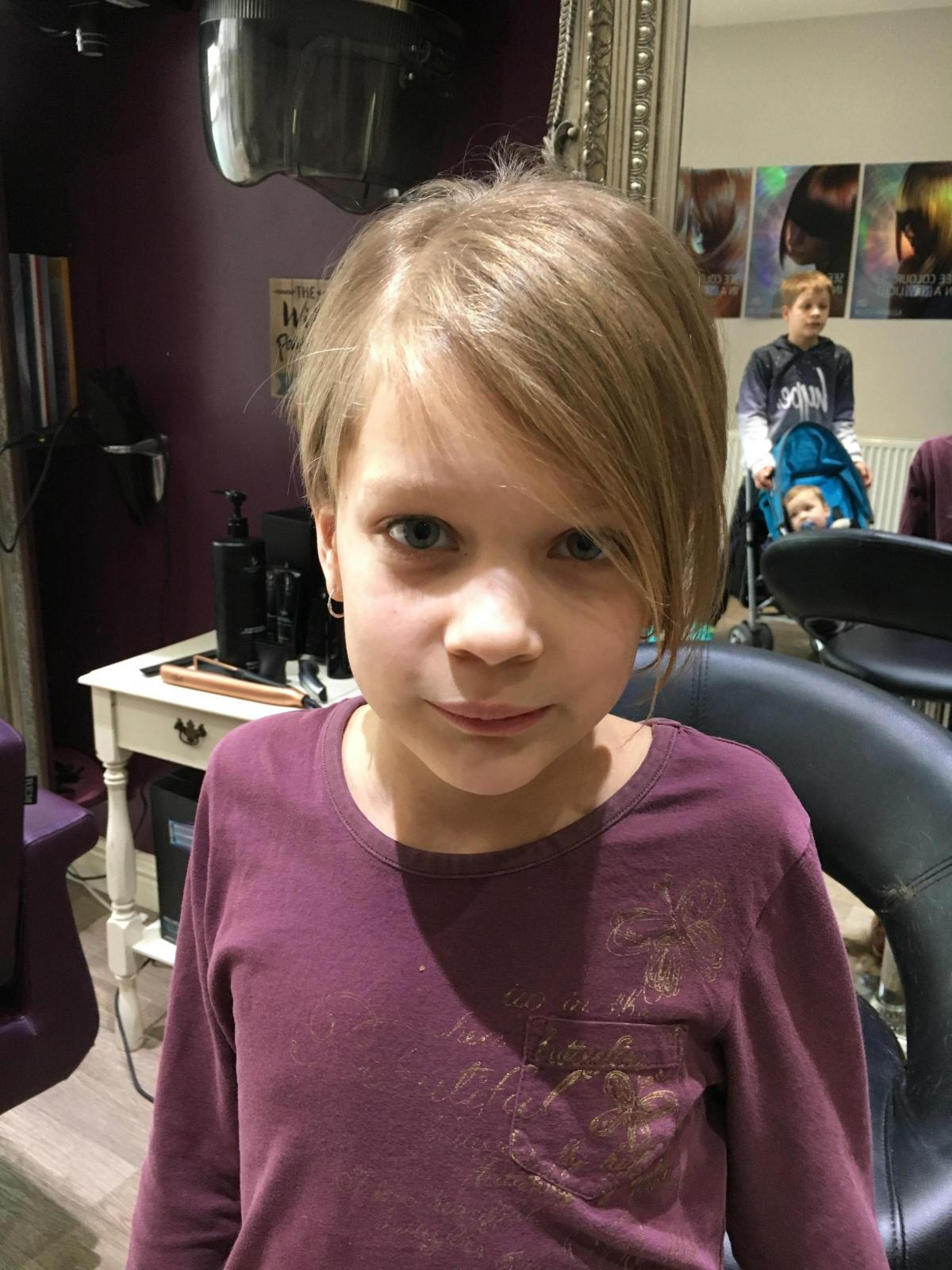 Nine Year Old Girl Gets Her Hair Cut For Little Princess Trust