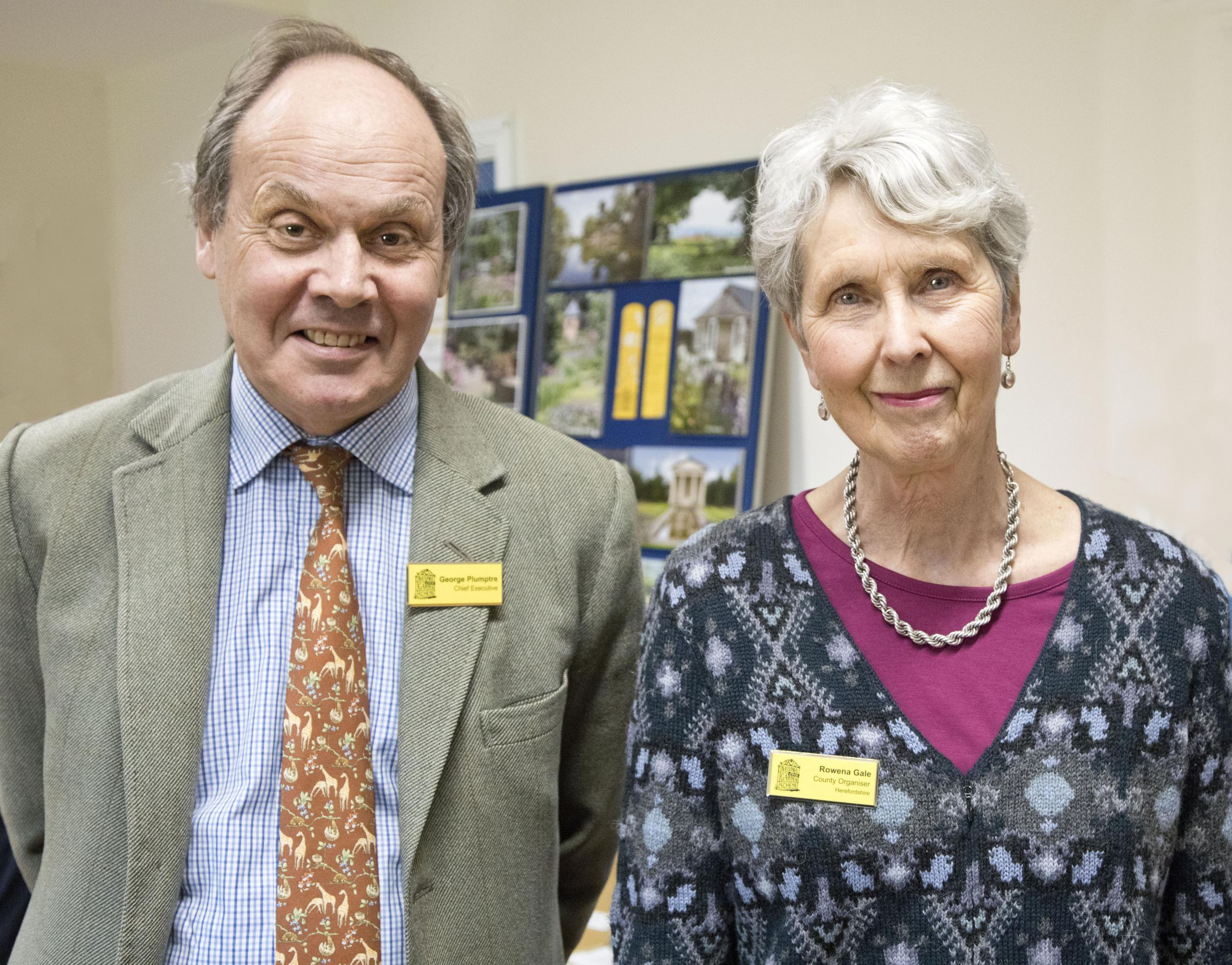 George Plumptre (NGS chief executive) and Rowena Gale (county organiser) Photo by David Rose