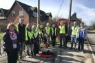 Holme Lacy Village Social Group litter picking in March