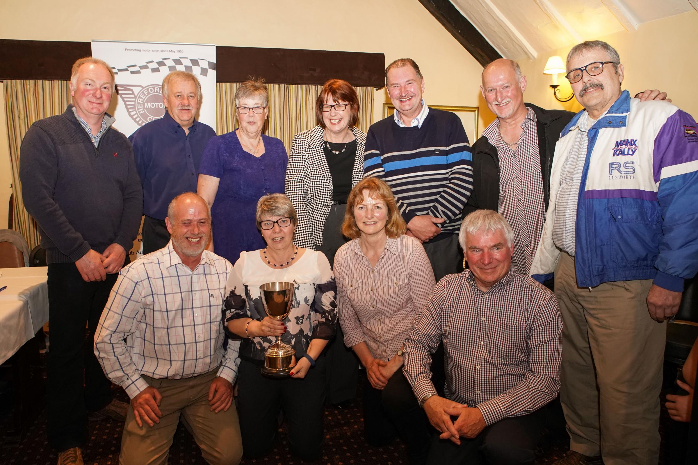 Herefordshire Motor Club award winners. Picture: Nigel Mee