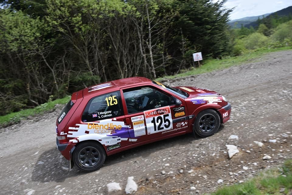 Tom Magnay and Samantha Colman competing in the Plains Rally, Mid Wales. Picture: Carl Leavold