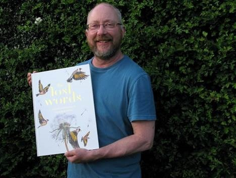 Richard Bavin with a copy of The Lost Words to be delivered to Primary and Special Schools in Herefordshire