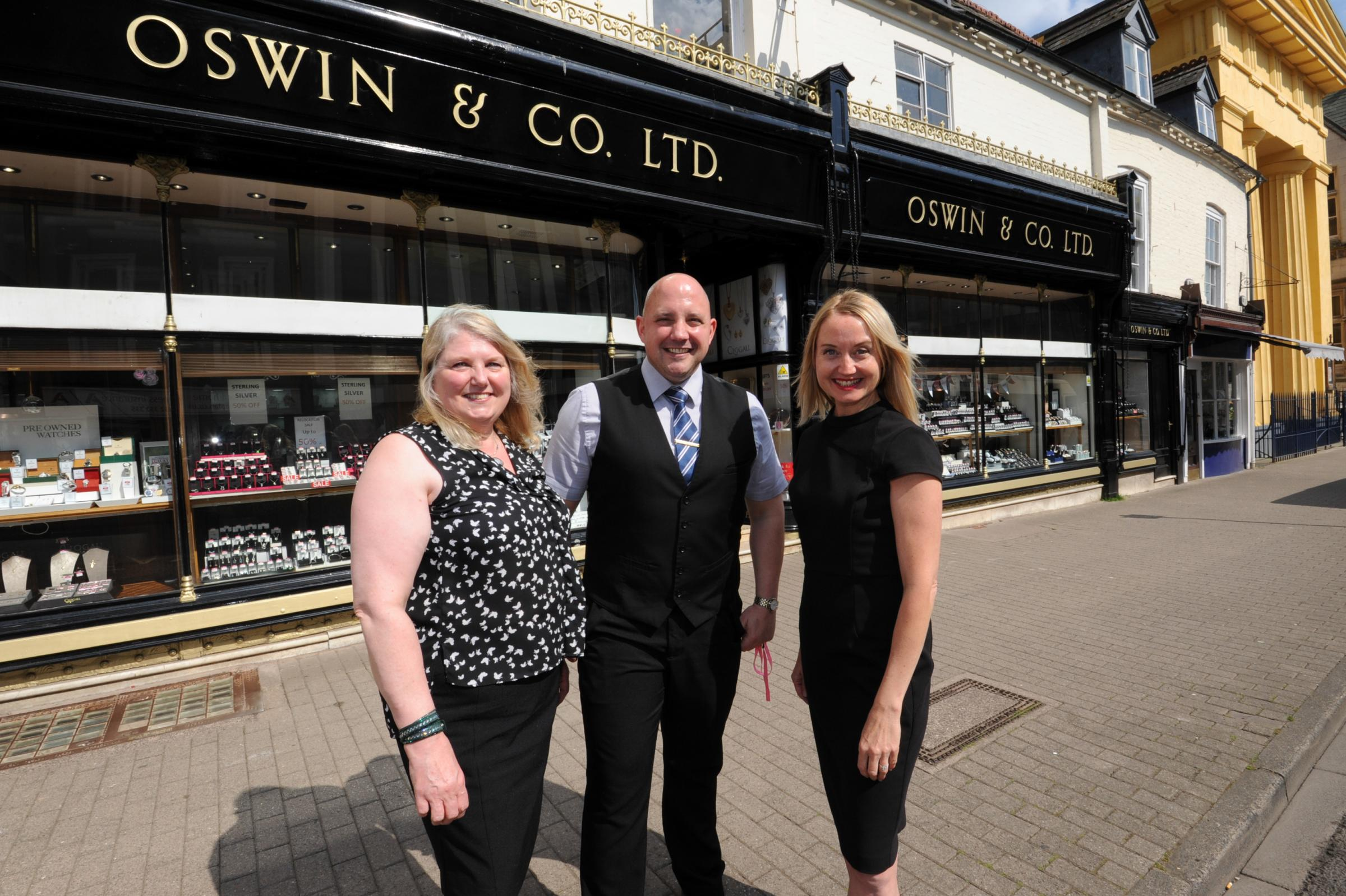 Oswin & Co. jewellers set to move from Broad street to Widemarsh Street, Hereford.