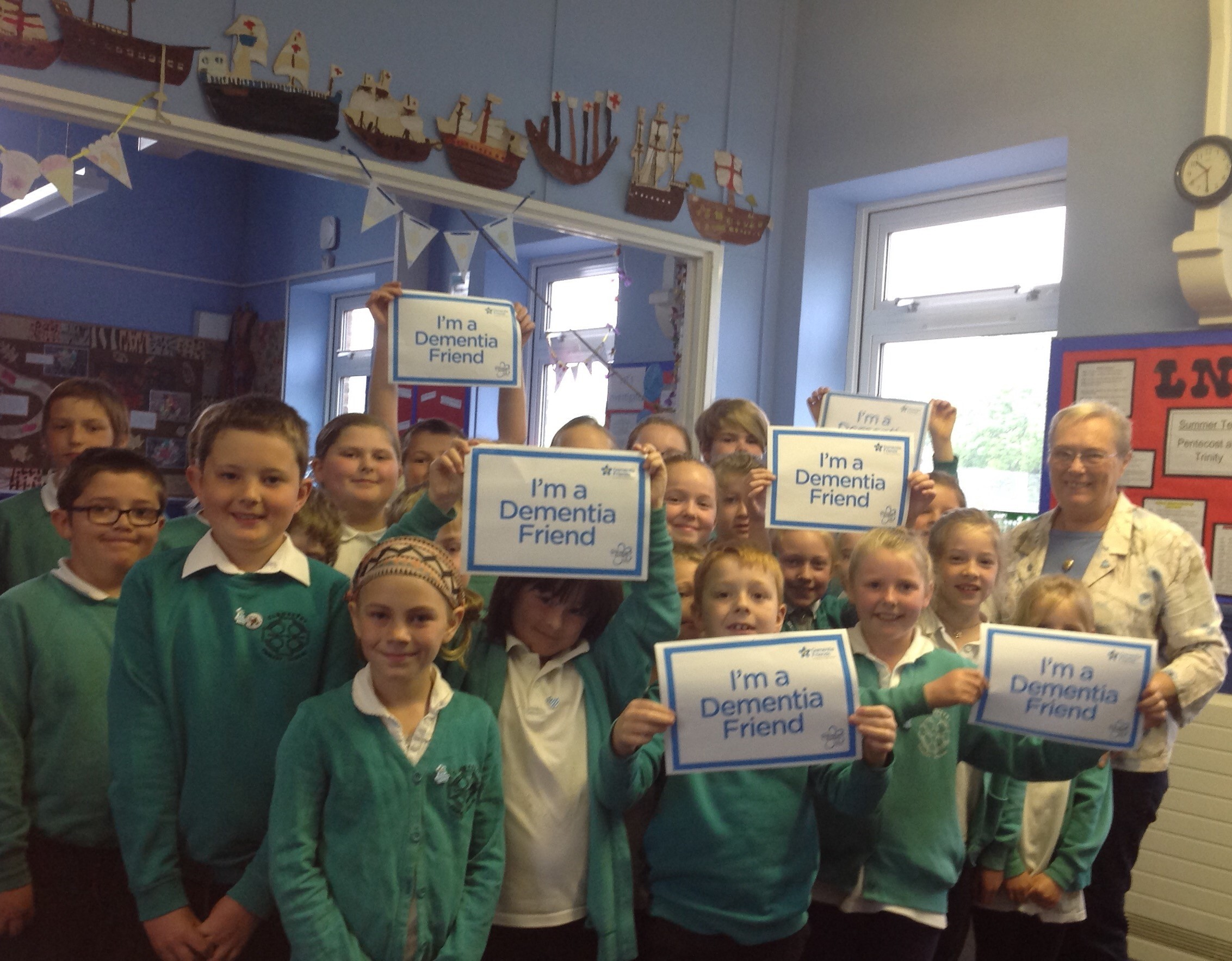 Gladestry primary joins the Dementia Friendly campaign