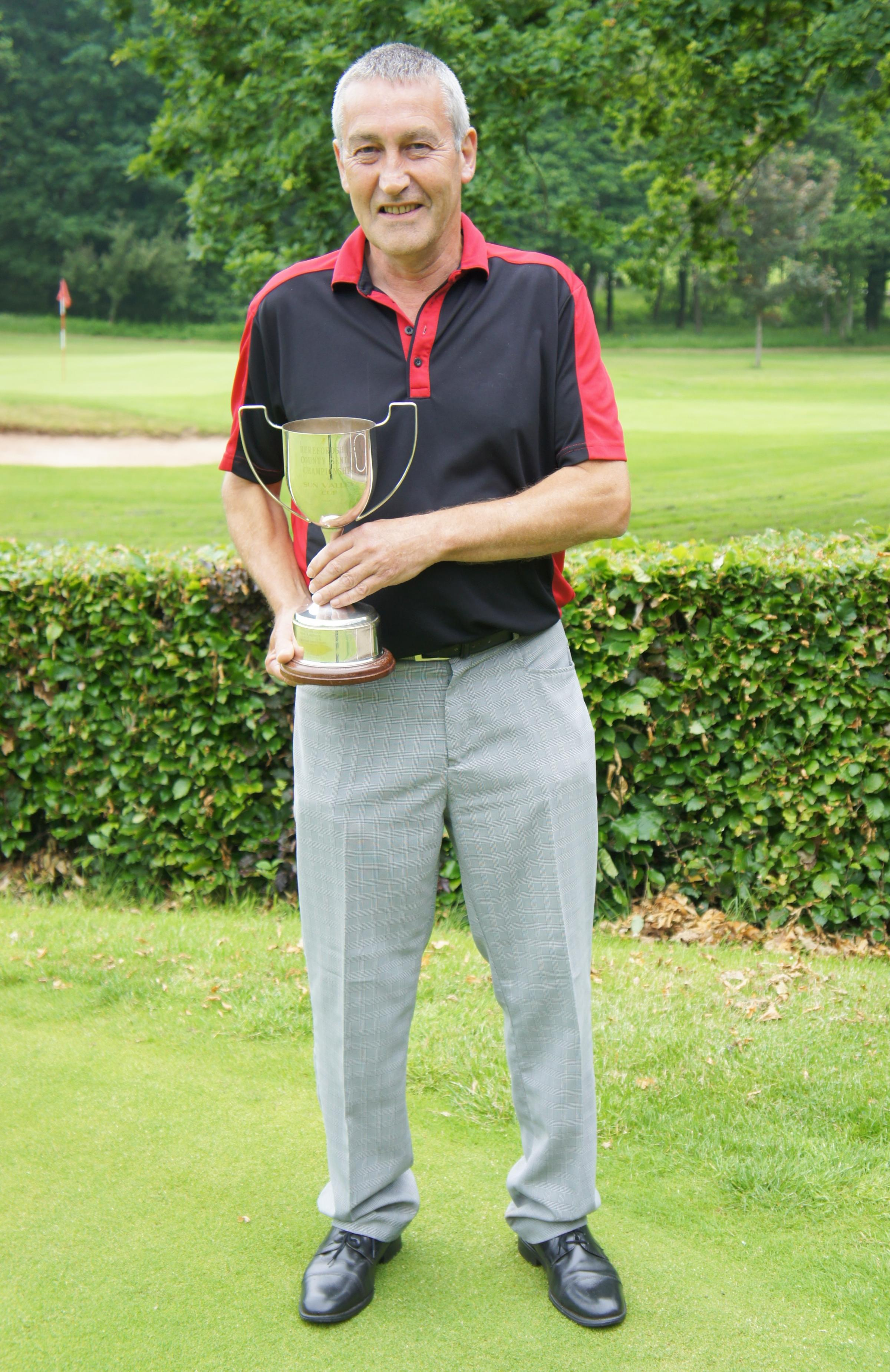 Paul Stone who won the Herefordshire Seniors County Championships