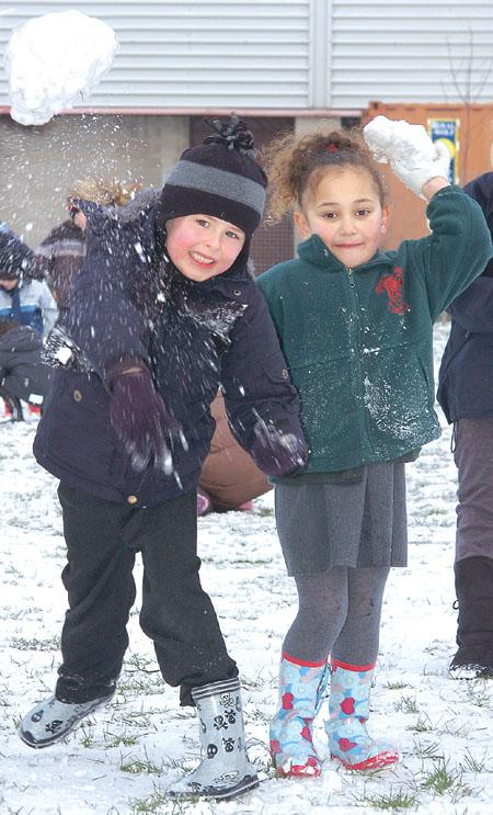 Snowballs at Holmer Primary School