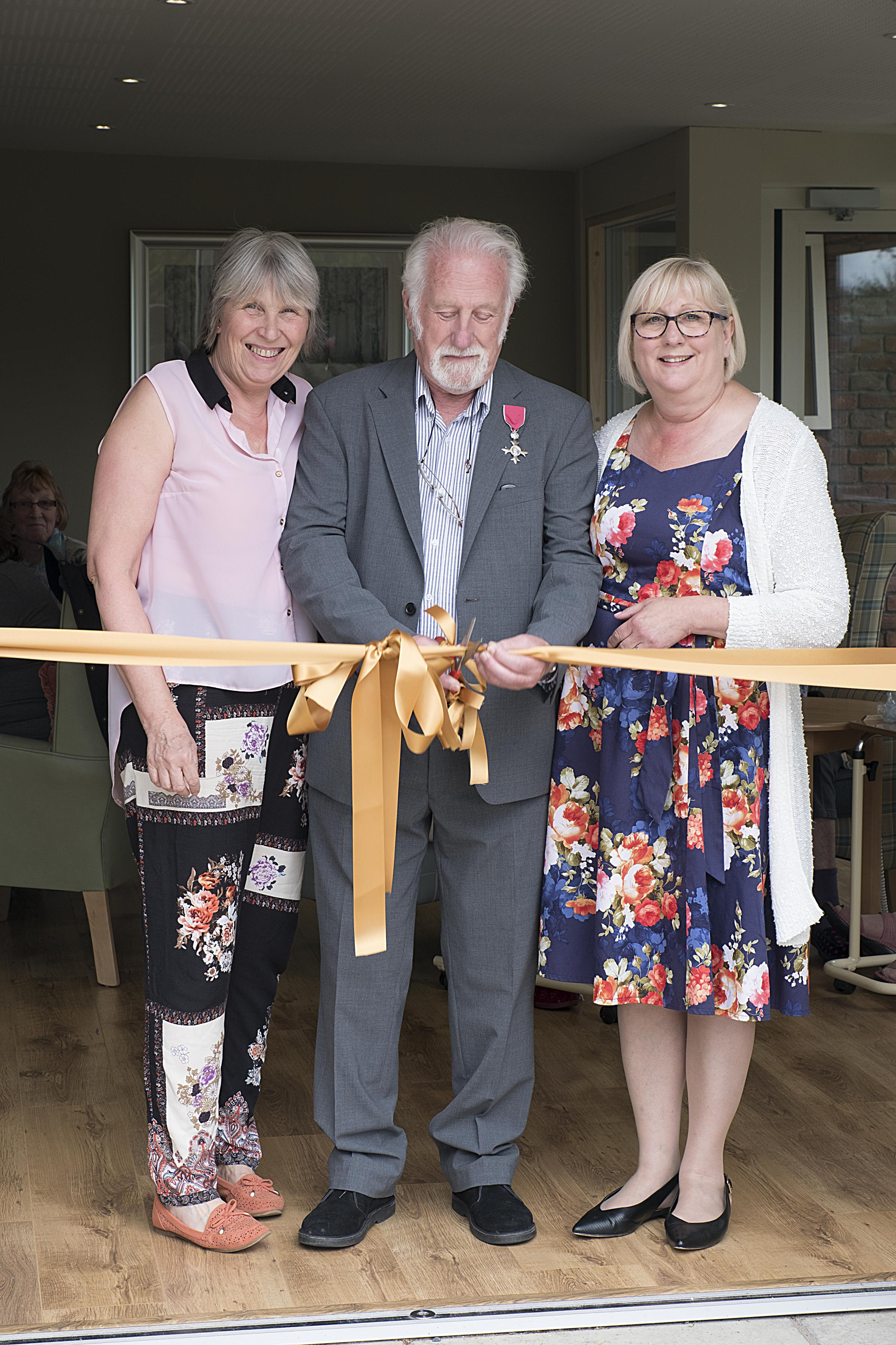 From left: Rita Graham, Mike Thornhill MBE and Sue Huxley