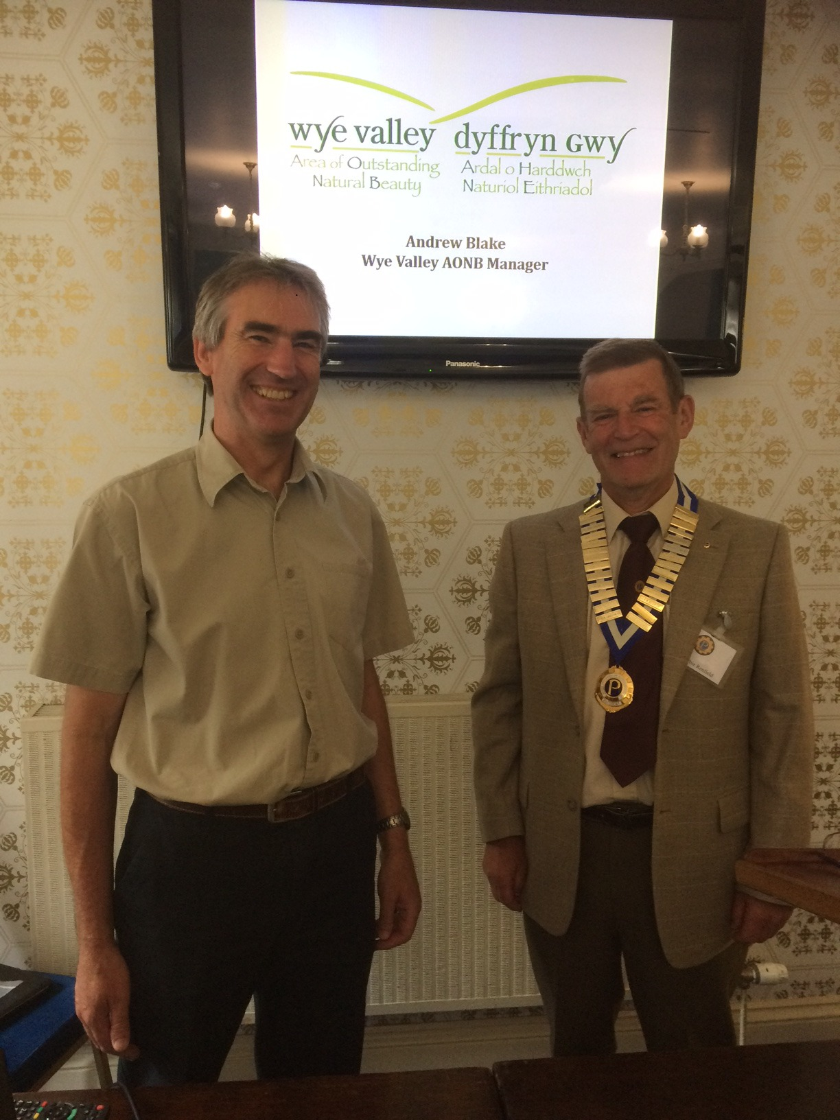 Andrew Blake with Herbie Renfield, president of Ross-on-Wye Vaga Probus Club