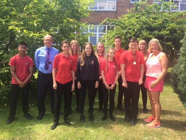 Members of successful John Kyrle High School athletics team
