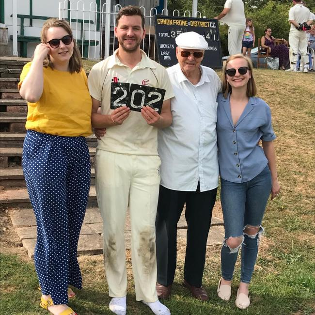 Ben Child set a club record of 202 runs for Canon Frome