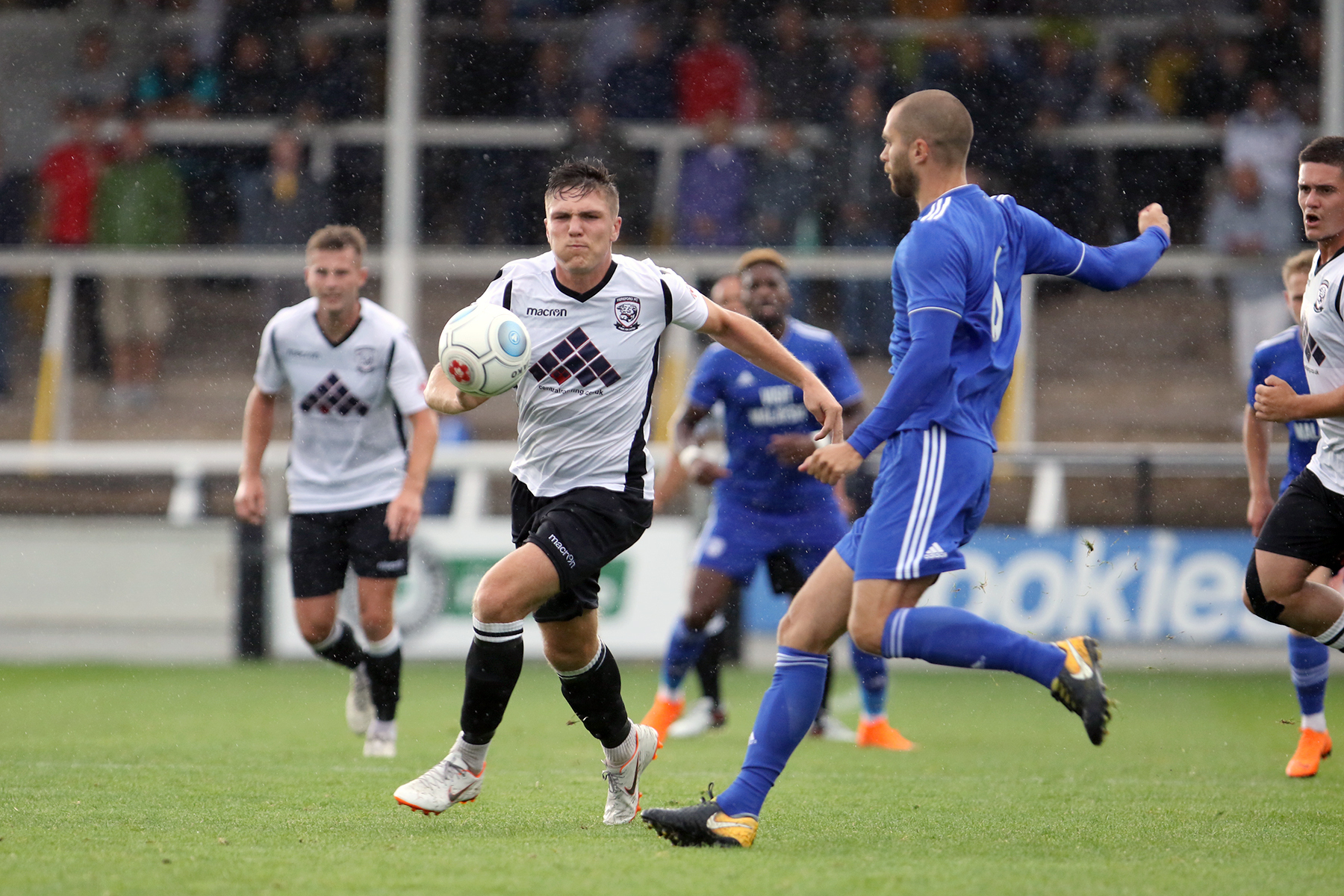 Harry White (pictured against Cardiff City) Picture: Stephen Niblett/Hereford FC