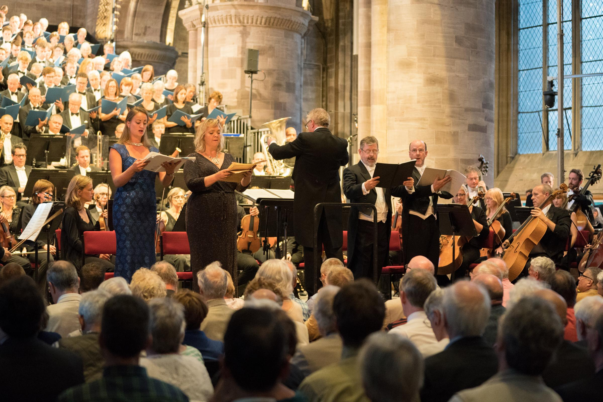 Soloists in the opening concert of the 2018 Three choirs Festival. Picture: Michael Whitefoot