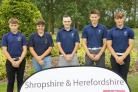 The Herefordshire team (l-r): Morgan Radziejowski, Oliver Maund, Adam Evans, Sam Bennett and Tom Mansell