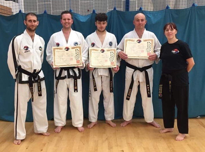 Some of The Hall Family Taekwon-Do students with their belts