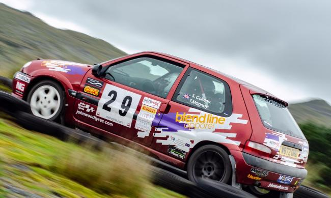 Tom Magnay (Herefordshire Motor Club) and Sam Colman (Whitby & District Motor Club) in the BlendLine Rally Team Saxo