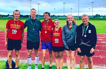Members of Hereford Couriers who took part in the Herefordshire 5,000 metres Championships