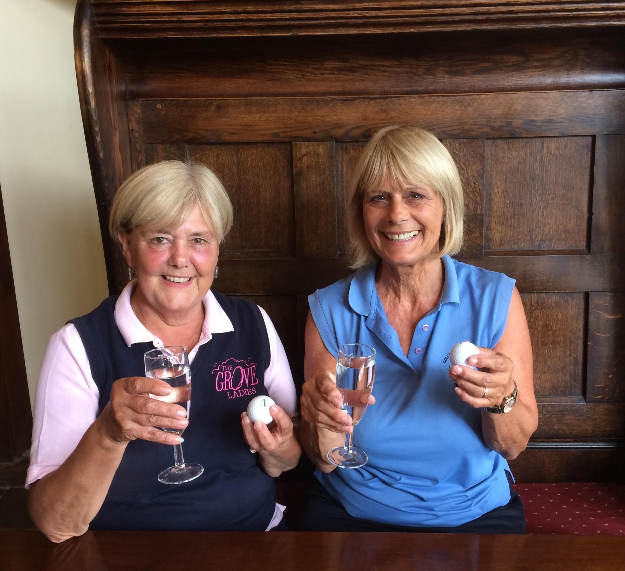 Jan Mussell and Jan Jones who both his holes in one at The Grove in Leominster