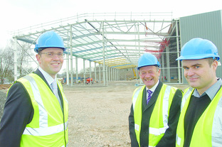 The new M&M Direct warehouse takes shape at Moreton Business Park.